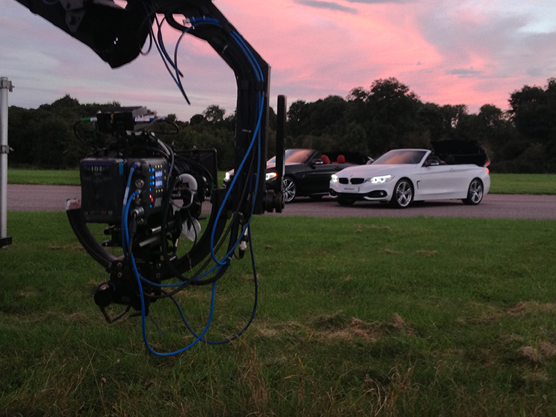 Mike Caine BMW at Thruxton Race Circuit Filming on the Arri Alex