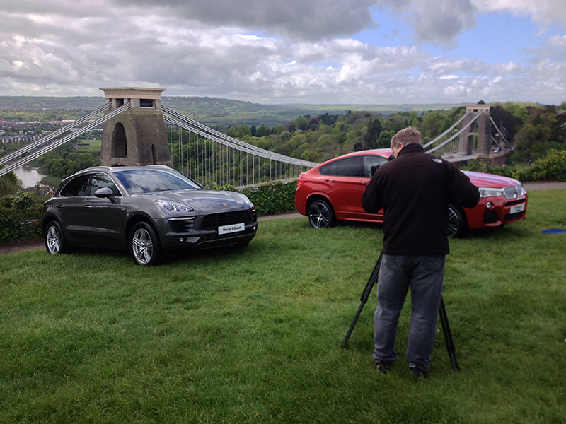 Mike Caine BMW shoot in Bristol
