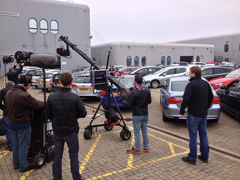 Mike Caine Car Show room shoot on Jimmy Jib
