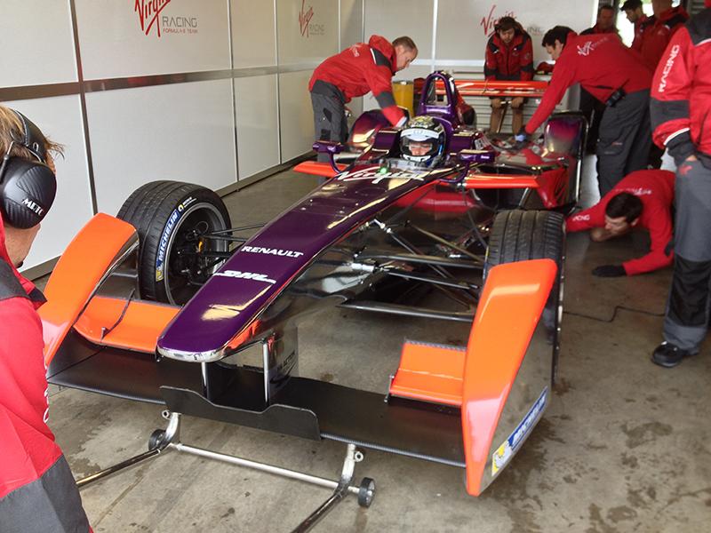Mike Caine Formula E Testing.