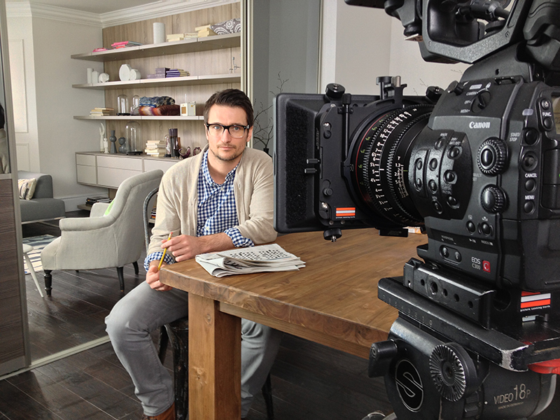 Mike Caine Furniture Commercial shooting on the C300 with Canon Prime lenses