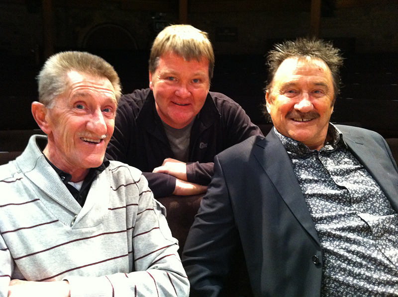Mike Caine That's me in the Middle with the Cuckle Brothers.