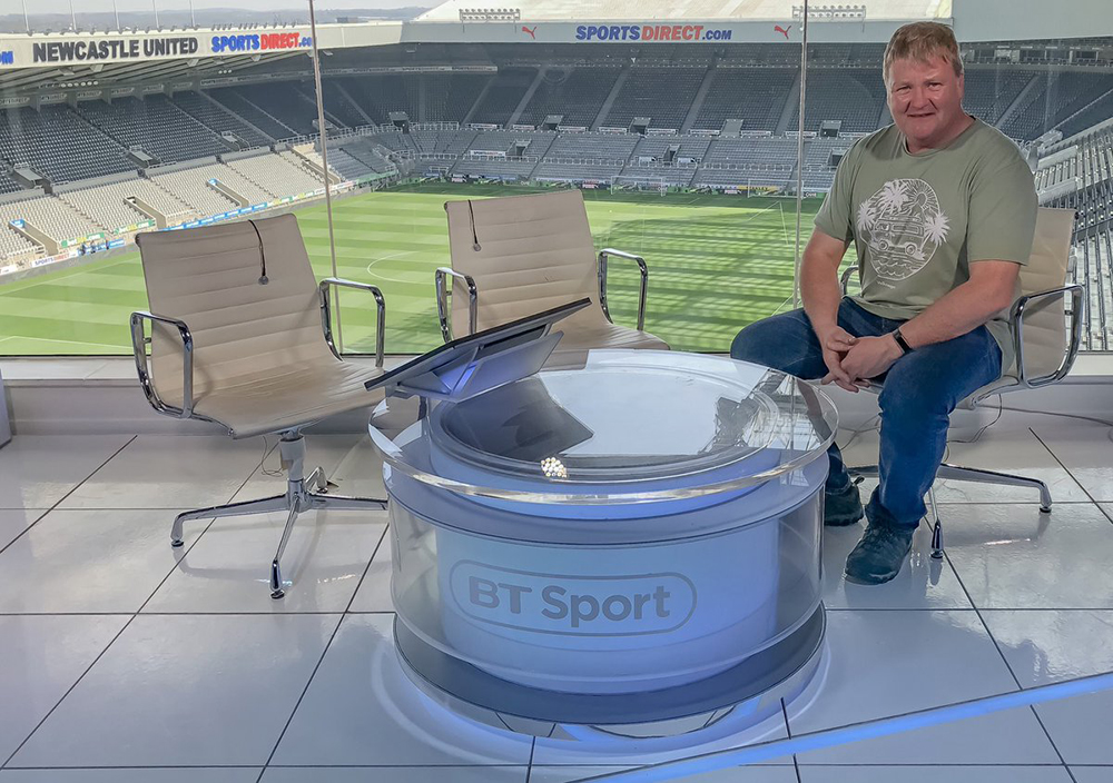 Mike Caine BT Sport at Newcastle United