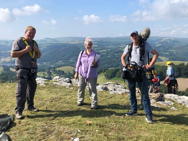 Abseiling for Countryfile